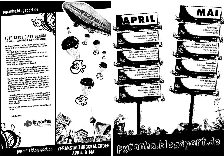 Veranstaltungskalender April/Mai Kompakt